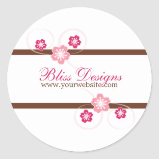 Pink and Brown Cherry Blossom Promo Stickers