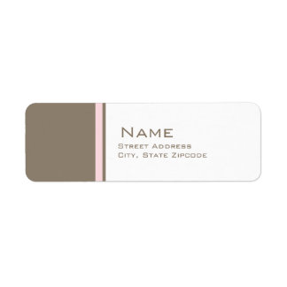 Pink and Brown Christening Return Address Label