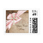Pink and Brown Cross Stamp
