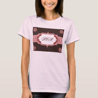 Pink and Brown Custom Monogram T-Shirt