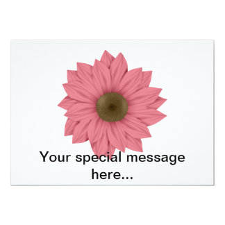 Pink and Brown Daisy Card
