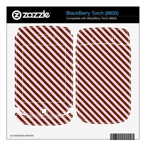 Pink and Brown Diagonal Stripes Decals For BlackBerry