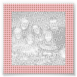 Pink and Brown Dots Frame Photo Photo Print