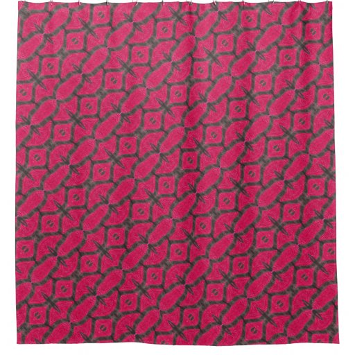 pink and brown fancy pattern shower curtain zazzle. Black Bedroom Furniture Sets. Home Design Ideas