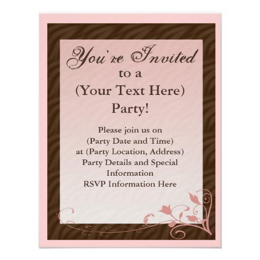 personalized mary kay invitations | custominvitations4u, Party invitations
