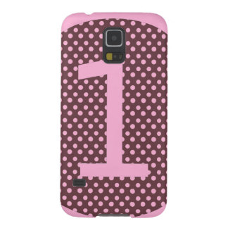 Pink and Brown First Birthday ONE Cases For Galaxy S5