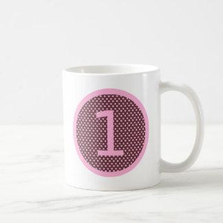 Pink and Brown First Birthday ONE Coffee Mug