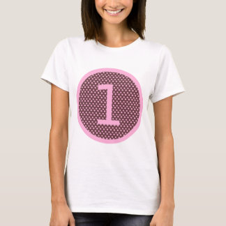 Pink and Brown First Birthday ONE T-Shirt