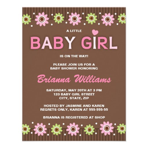 Pink And Brown Baby Shower Invitations could be nice ideas for your invitation template