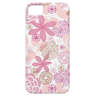 Pink and Brown Floral Pattern iPhone SE/5/5s Case