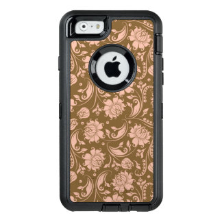 Pink and Brown Floral Pattern OtterBox iPhone 6/6s Case