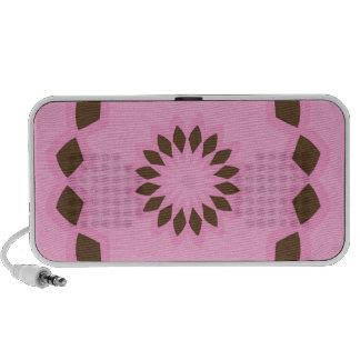 Pink and Brown Flower Mandala Speaker