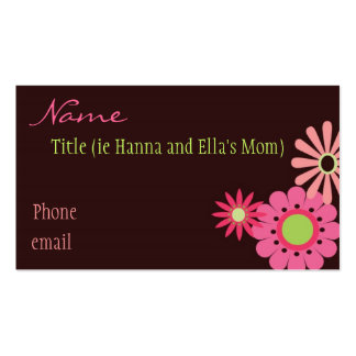 Pink and Brown Flowers Mommy Card