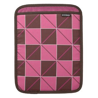 Pink and Brown Geo Plaid iPad Sleeves