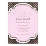 "Pink and Brown Invitation 5"" X 7"" Invitation Card"