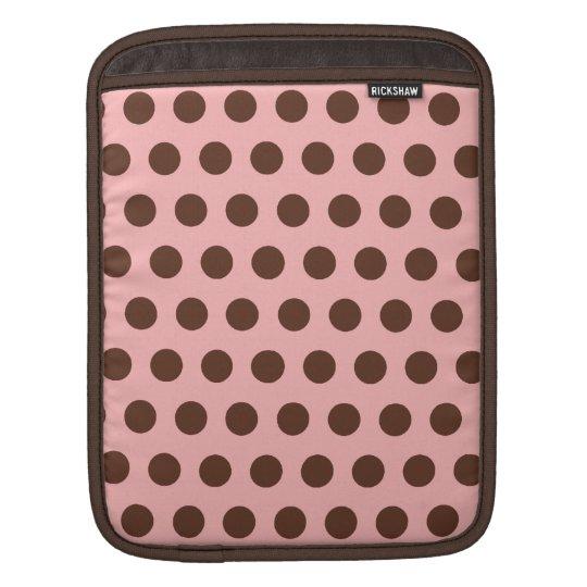 Pink and Brown iPad Sleeve