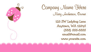 Ladybug business cards zazzle pink and brown ladybug business card colourmoves