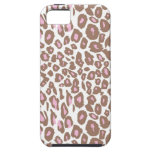 Pink and Brown Leopard Print iPhone 5 Covers