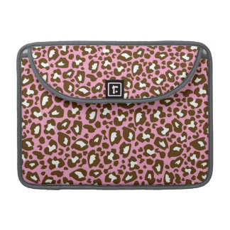 Pink and Brown Leopard Spotted Animal Print MacBook Pro Sleeves
