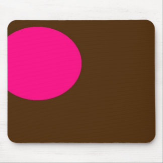 pink and brown mousepad