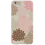 Pink And Brown Mum Pattern Barely There iPhone 6 Plus Case
