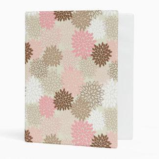 Pink And Brown Mum Pattern Mini Binder
