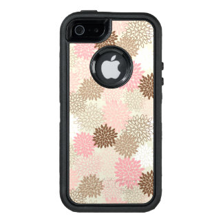 Pink And Brown Mum Pattern OtterBox iPhone 5/5s/SE Case