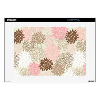 Pink And Brown Mum Pattern Skin For Laptop