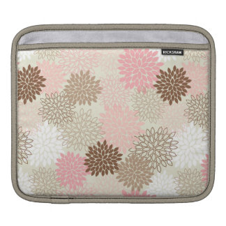 Pink And Brown Mum Pattern Sleeve For iPads