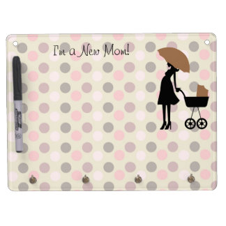 Pink and Brown New Mom Reminder Dry Erase Board