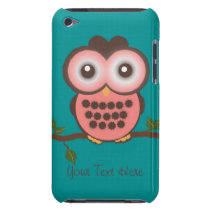 Pink and Brown Owl iPod Touch Case