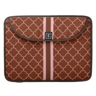 Pink and Brown Pattern MacBook Sleeve