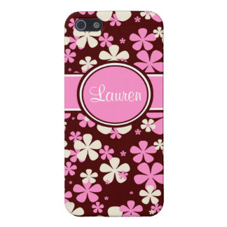 Pink and Brown Personalized iPhone Case iPhone 5 Cases
