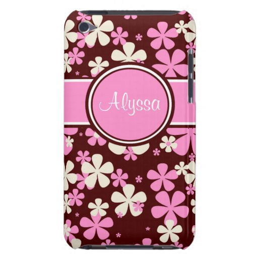 Pink and Brown Personalized iPod Touch Case