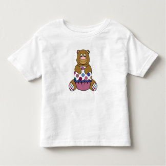 Pink And Brown Polka Dot Bear Tshirt