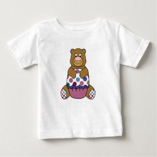 Pink And Brown Polka Dot Bear T-shirt
