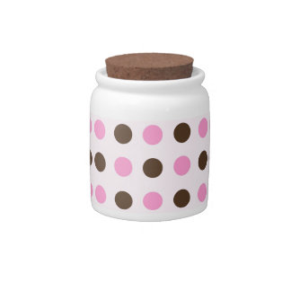 Pink and Brown Polka Dots Candy Dishes