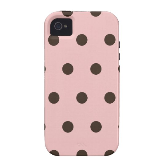 Pink and Brown Polka Dots iPhone 4 Cover