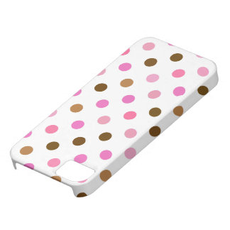 Pink and Brown Polka Dots iPhone SE/5/5s Case
