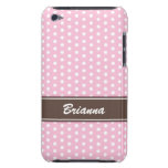 Pink and brown polka dots iPod case Case-Mate iPod Touch Case
