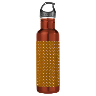 Pink and Brown Polka Dots Stainless Steel Water Bottle
