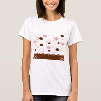 Pink and Brown Polka Dots T-Shirt