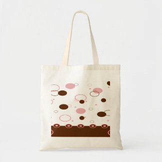 Pink and Brown Polka Dots Tote Bag