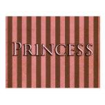 Pink and Brown Princess Design Post Card