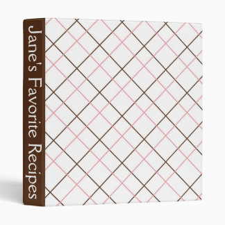 Pink and Brown Recipe Book Binder