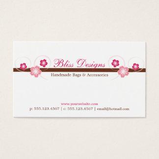 Pink and Brown Sakura Business Card