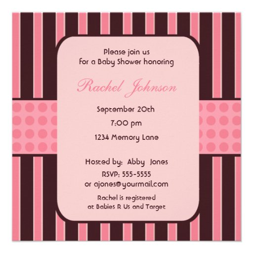 Pink And Brown Baby Shower Invitations correctly perfect ideas for your invitation layout