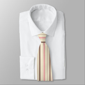 Pink and Brown Stripe Pattern Tie