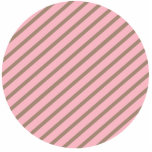 PINK AND BROWN STRIPES ACRYLIC CUT OUT