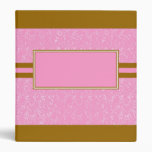 pink and brown swirled binder